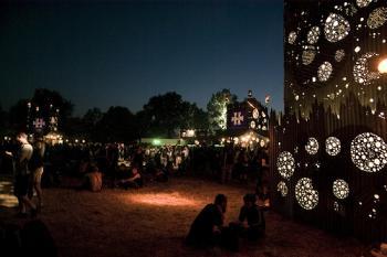 Hellfest 2008: Les décors de Monic la Mouche