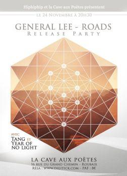 Flyer - Release party General Lee Roads