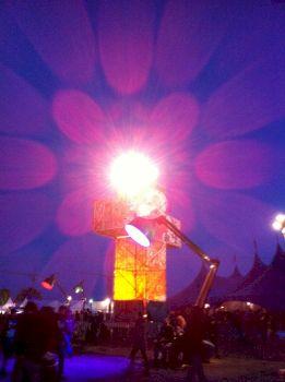 Ambiance lumineuse à l'Hellfest