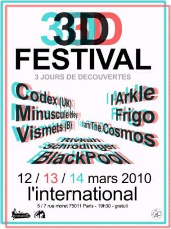 Affiche 3D festival 2010